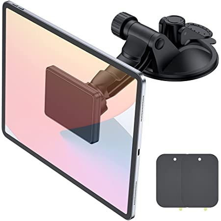 """Magnetic Phone Tablet Holder for Car,OHLPRO Dash Windshield Dashboard Mount 360 Degree Rotating Super Strong Magnet TPU Suction Viscosity for iPhone iPad Size 4""""- 10"""" Tablet Mount"""