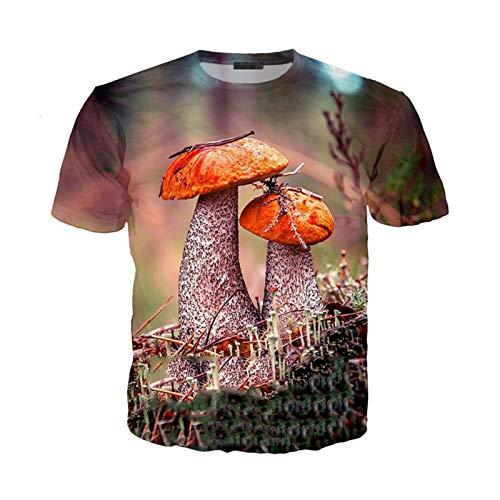Pilz T-Shirt Männer Frauen Sweatshirt 3D-Druck Kurzarm Hip Hop Streetwear Tops O Neck Pullover 9 Asia XL