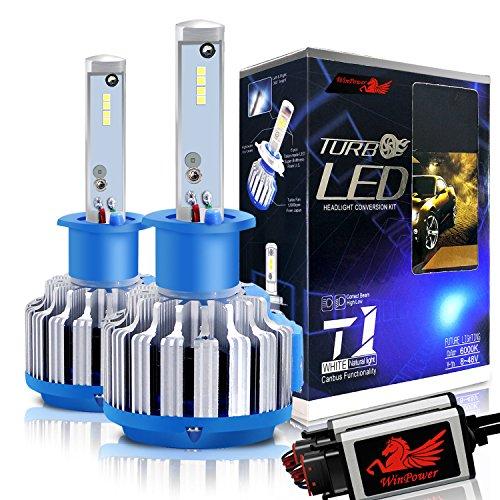 WinPower - H1 - Kits de conversion d'ampoules de phares à LED CREE avec Canbus - Blanc Xenon 70W 7200Lm 6000K - 2 Pièces
