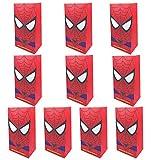 NAXIEE 10 Stück Spiderman Papiertüten, Spiderman Party Geschenk Taschen, Superhelden-Themen...