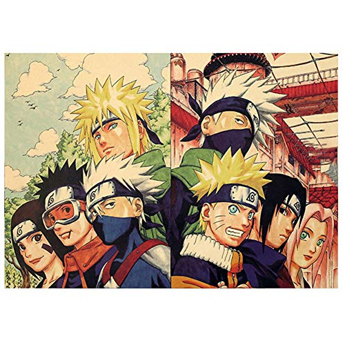 Bowinr Naruto Poster, 50.5x35cm/20'x13.8' Japanese Animation Naruto Shippuden No Fading Art Print Poster for Kids Teens and Anime-Fans(Style 02)