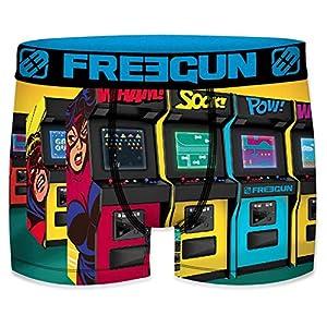 FREEGUN Arcade Talla 8/10 unitario Boxer FREEGUN-Multicolor-92% poliéster 8% Elastano para Niños