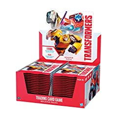 30 BOOSTER PACKS: Add to your Character Card teams and Battle Card decks with 30 Transformers Trading Card Game Booster Packs. ROLL OUT! Each pack includes 1 foil Transformers Character Card and 7 Battle Cards. Most Booster Packs contain 1 rare Battl...