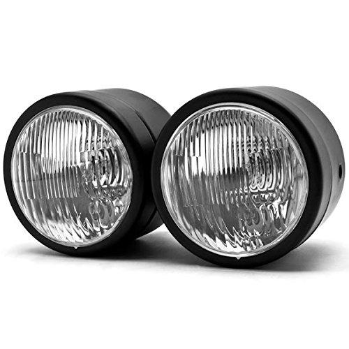 Krator Black Twin Headlight Motorcycle Double Dual Lamp Street Fighter Naked Dominator