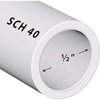 PVC Pipe Sch. 40 1/2 Inch (.5) White/PVC / 4 FT