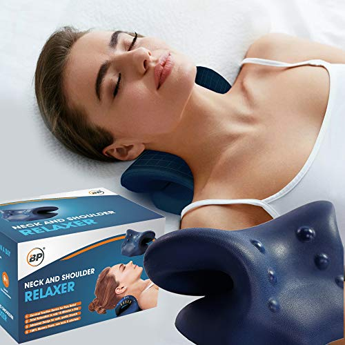 Advanced Neck and Shoulder Relaxer by BPO®, Neck Stretcher for Neck and Shoulder Pain Relief, Cervical Neck Traction Device, Neck Hammock, Cervical Traction Relaxer and TMJ Pain Relief