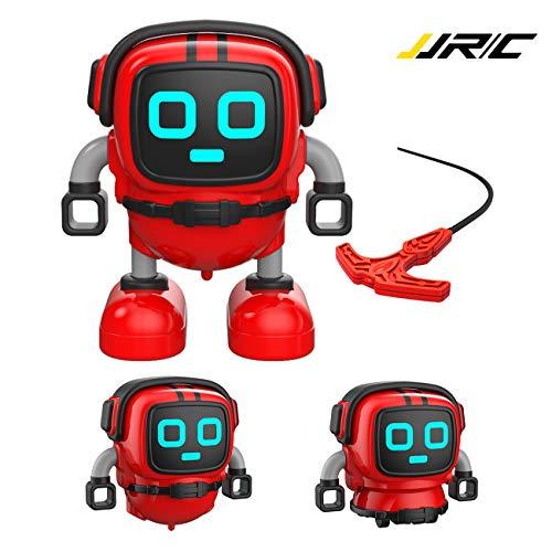 Homealexa Auto Kreisel für Kinder, Mini Roboter Spinning Toys Mehrfachspiel, Abnehmbare Kreisel Mit Zieh-Sender, Tolles Kinder Spielzeug Geschenk für Weihnachten, Geburtstag (Rot)