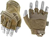 Mechanix Wear Guantes M-Pact Coyote Fingerless (Mediana, Tan) Tácticos Sin Dedos