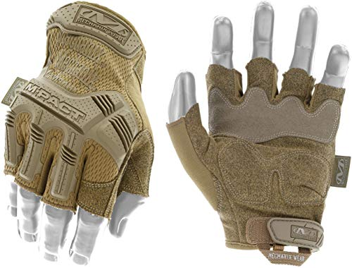 Mechanix Wear M-Pact® Coyote Fingerlose Handschuhe (Large, Coyote Beige)