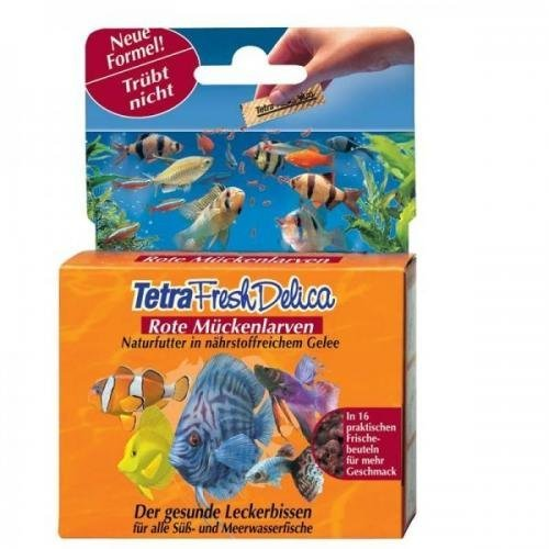 Tetra Delica Fresh Rote Mückenlarven 48 g, Flockenfutter, Hauptfutter