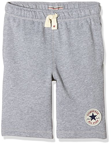 Converse Jungen French Terry Sporthose, Grau (Vintage Grey Heather), 13 Jahre (Herstellergröße: Large)