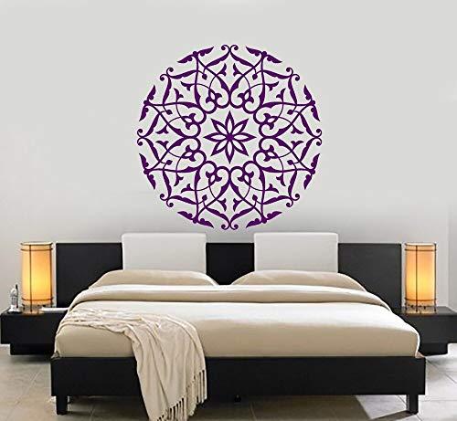 hetingyue Mandala Stickers muraux Floral décoration murale Design Moderne Accessoires moule décoration murale Mobile 57x57cm