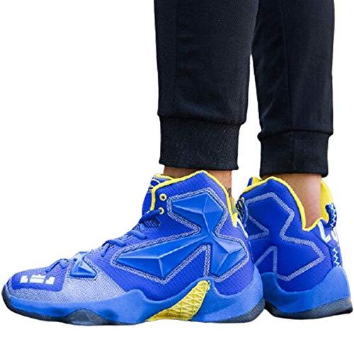 MABES WAREHOUSE - Scarpe da basket da uomo, leggere, da uomo, sportive, da basket, da uomo e adulto, con tomaia alta traspirante, per sport (5,5), colore: blu