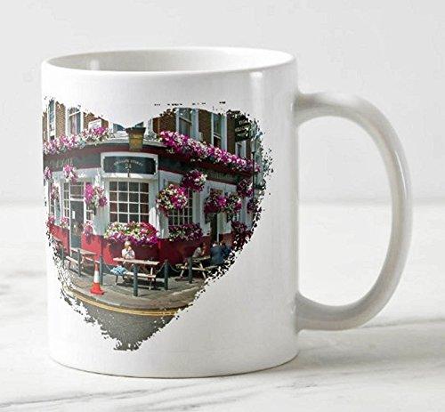Fotografie Torsten Ackermann - Exklusiver Londoner Kaffee-Becher - Motiv: Impression aus Notting Hill in London - Foto-Tassen/Bilder / Souvenirs