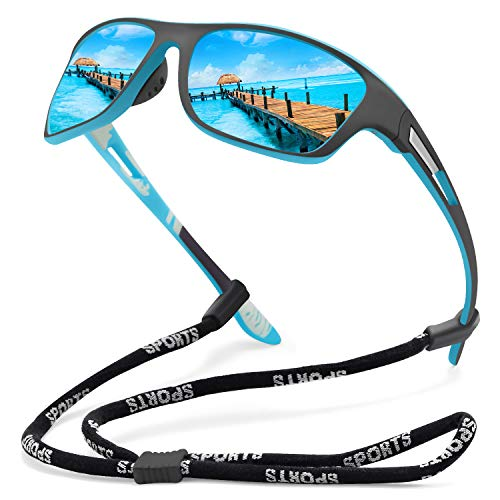 KUGUAOK Polarized Sports Sunglasses for Men Driving Cycling Fishing Sun Glasses 100% UV Protection Goggles