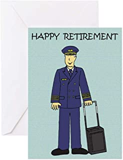 CafePress Happy Retirement Pilot Greeting Cards Greeting Card, Note Card, Birthday Card, Blank Inside Matte