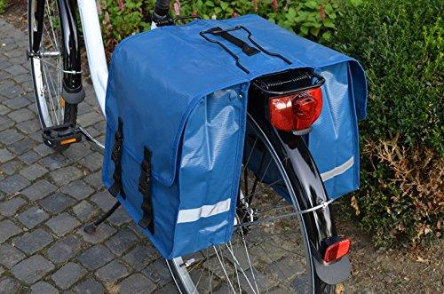 Gravidus Fahrrad-Doppeltasche aus Tarpaulin, 24 Liter (Blau)