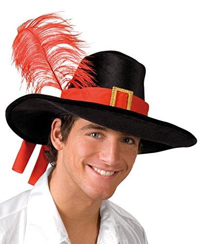 Boland 01210 - adultos Mosquetero sombrero, un tamaño, negro