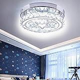 Chandeliers Ceiling Light, Modern LED Crystal Chandelier Lighting Cool White Flush Mount Ceiling Pendant Lamp Fixture for Bedroom Hallway Bar Kitchen Bathroom Kids Room