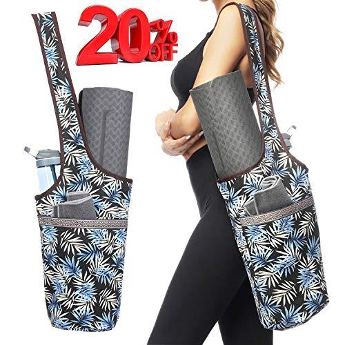 Ewedoos Yoga Mat Bag with Large Size Pocket and Zipper Pocket, Fit...