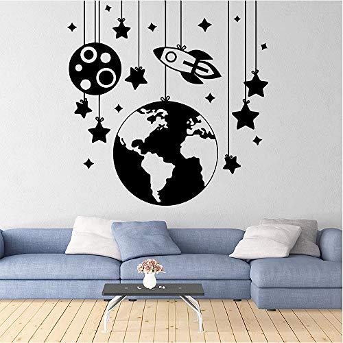 Schöne Star Ball Schiff Wandaufkleber Home Decor Wohnzimmer Schlafzimmer Wandbilder Soft Pink XL 58cm X 59cm