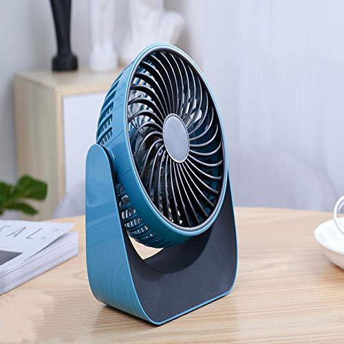 Ventilatore portatile,Ventilatore manuale,Fan desktop desktop mini fan ventilatore piccolo-Blu ghiaccio,Ventilatore da viaggio pieghevole,Ventilatore USB portatile
