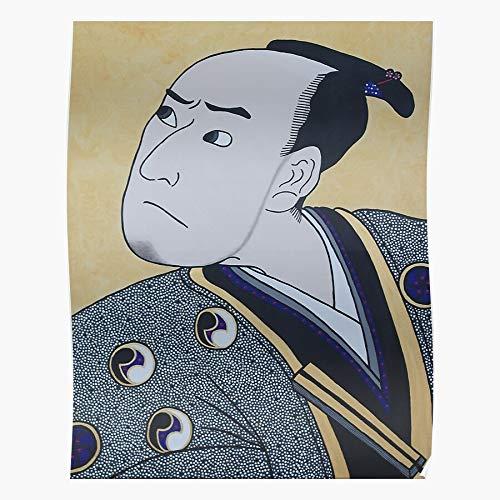 Heeled Kabuki Rebeccapoolvisualartist Rebeccapool Oriental Actor Pool Kimono Rebecca Geschenk für Wohnkultur Wandkunst drucken Poster 11.7 x 16.5 inch
