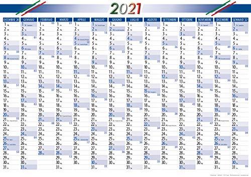 2 pezzi calendario anno - Planner poster Calendari per Italia 2021
