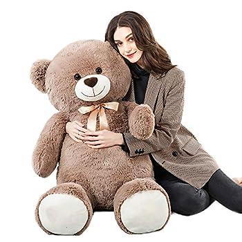 Tezituor Big Teddy Bear,52   Giant Stuffed Animal Plush,Soft Gifts for Valentine Christmas Birthday.