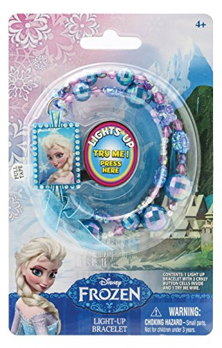 Disney Frozen Elsa Light Up Bead Bracelet,Blue