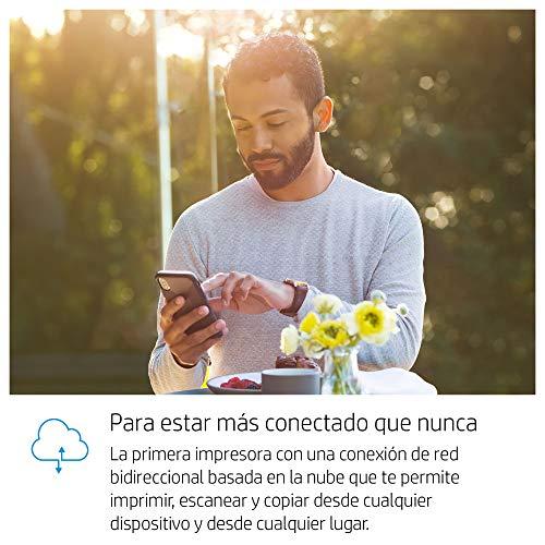 HP Tango X - Impresora (Imprime, Copia y Escanea desde el Móvil, Conectividad Wi-Fi, Incluye 2 meses de Impresión Gratis con HP Instant Ink) Color Blanco, con Funda