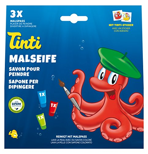 Tinti zeep 3-pack (1 x groen, 1 x rood, 1 x blauw)