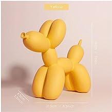 YAOHEHUA Sculpturen voor woonkamer Nordic creatieve ballon hond hars hond beeldje mat kleur woonkamer kinderen slaapkamer ...