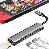 3XI Type C ハブ 4in1 USB C 4K HDMI出力 PD 充電対応 USB3.0 USB2.0 多機能アダプターサポートNintendo Switch(任天堂スイッチ)/Samsung Dex Mode/MacBook /MacBook Pro/MacBook Air/iPad Pro 2018/ChromeBook/Huawei Matebook/Huawei P20 Pro/Huawei mate20