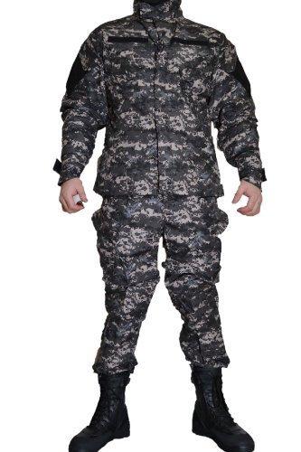 米海軍タイプ ピクセルグレー デジタルグレー レプリカ BDU 迷彩服 戦闘服 ジャケット&パンツ 上下セット (XS)