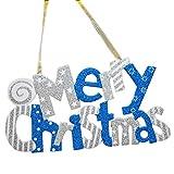 TEBI Adornos de purpurina de color plateado, rojo y verde, adornos de Navidad con purpurina para árbol de Navidad, decoraciones navideñas