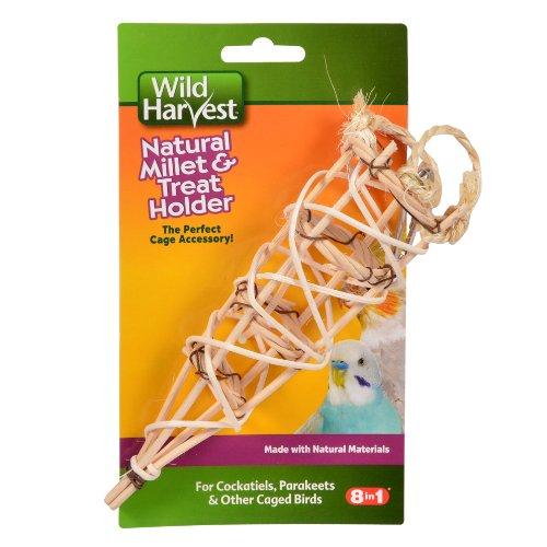 Wild Harvest P-84138 Naturel Millet et Support pour friandises pour perruches/perruches/mangeoire Oiseaux