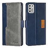 SOUFU Funda para One Plus 9R,Cuero Carcasa con Flip[Cierre Magnético] [Ranuras para Tarjetas] Funda para Xiaomi Redmi Note 9 Pro-Gris Azul
