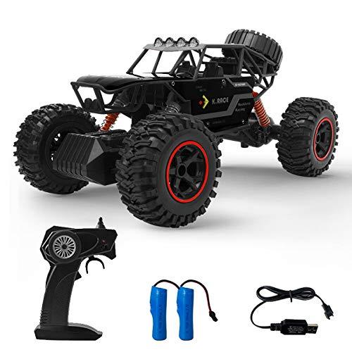 CESHMD Ferngesteuertes Auto, 1:14 RC Car Geländewagen Off-Road Auto, RC Flitzer Auto mit 2 Wiederaufladbaren Batterien, Geschenk für Kinder Jungen