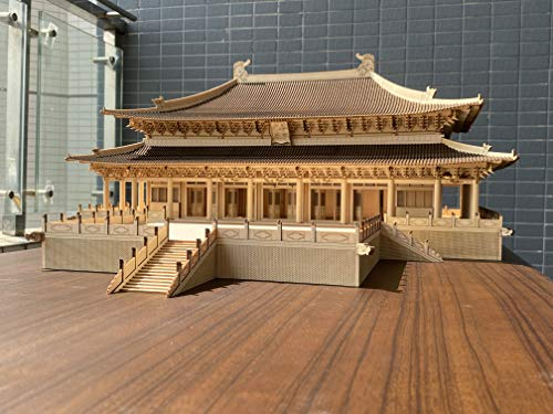 Old Cat Model 7506 1/75 The Denin Hall of Beiyue Temple 3D Wooden Puzzle Chinese Historic Architecture DIY Model kit, lerning Toy for Adults and Children Over 14 Years Old