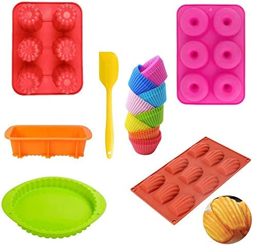 30Pcs Silicone Baking Set With Silicone Spatula Toast Loaf Pans Pizza plate 6 Cups Donut Pans product image