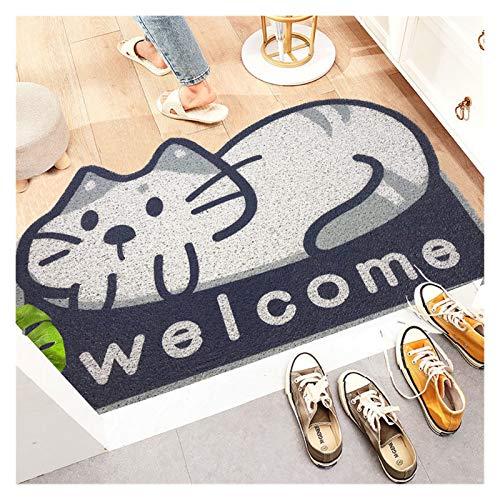 Naikaxn Fußmatte Cartoon Tier Willkommen Matten Sand Kratztür Eingang Flur Bad rutschfeste Teppich Staubentfernung Teppichdrahtschleife Fußpad Fußmantel (Color : TTM, Size : 40cmx60cm)
