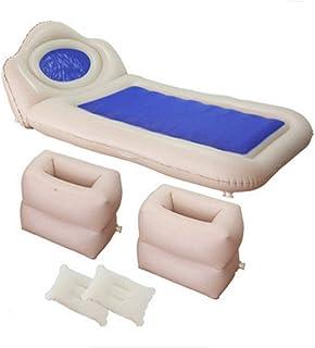 LIYANG Camas Inflables Cama de Aire del Coche Transpirable colchón de Aire Reunida Airbed con una función de Almohada for Actividades al Aire Libre y una Cama Cubierta (Color : Blue, Size : 175X90CM)