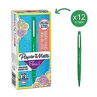 Papermate Flair Original FTP M Green (Box of 12) ペン (並行輸入品)