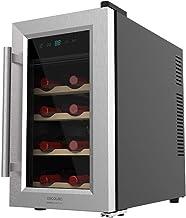 Cecotec Cave à vin Grand Sommelier 800 CoolWood. Capacité de 25 L, 8 Bouteilles , Design avec Porte en Verre. Encadrement ...