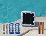 Solar Ionizer 14.0 Volts with LED | Ver 2.0 | 6.5 watts Ionization | Threaded Basket (No Wing-Screw) | Saves Over $1000 in Pool Maint. Costs | 500-40,000 Gallons | High Efficiency | Heavy Duty