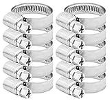 Pangaea Tech Edelstahl Schlauchschellen 16-27mm 10 Stück - Profi Qualität nach DIN 3017 (W2) für Waschmaschine, Spülmaschine oder Gartenschlauch