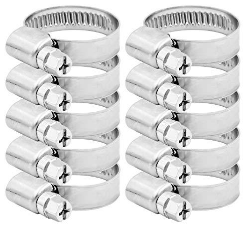 Pangaea Tech Edelstahl Schlauchschellen 16-27mm 10 Stück - Profi Qualität nach DIN 3017 für Waschmaschine, Spülmaschine oder Gartenschlauch