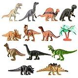 Toyvian Mini Dinosaurier Spielzeug Set Realistische Spielzeug Dinosaurier Figuren für Kinder und Kleinkind Bildung 12 Stück -