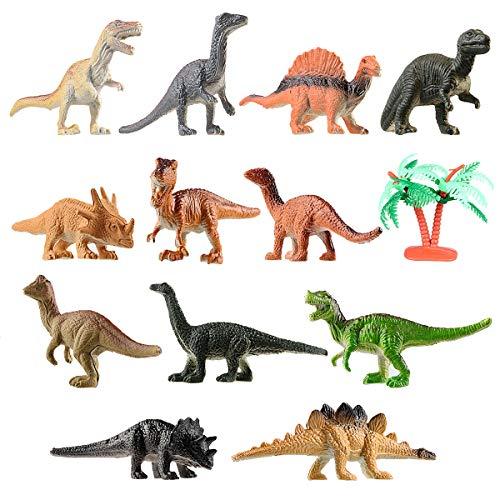 Toyvian Mini Dinosaurier Spielzeug Set Realistische Spielzeug Dinosaurier Figuren für Kinder und Kleinkind Bildung 12 Stück